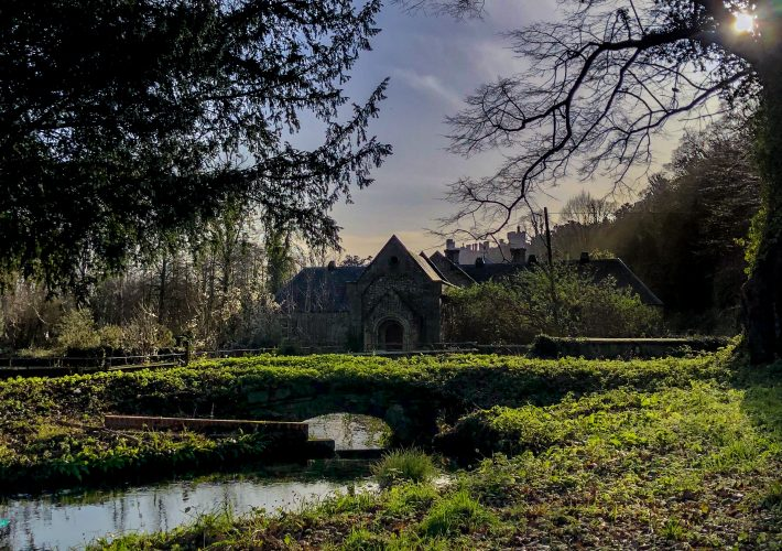 A small church in a small town in the South of England, UK found by plan on a weekend getaway